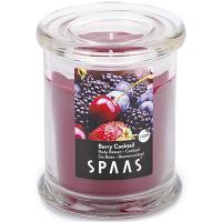 Купить свеча н110хd90 мм в стекле арома премиум ягодный коктейль spaas 1/6 в Москве