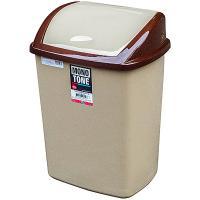 Купить контейнер мусорный прямоугольный 26л дхшхв 270х350х480 мм с качающейся крышкой пластик коричневый bora 1/16 в Москве