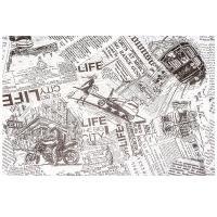 Купить бумага оберточная дхш 260х380 мм жиростойкая с печатью big city life для гамбургера pps 1/1000 в Москве