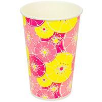 Купить стакан бумажный 400мл d90 мм 1-сл для холодных напитков красный цитрус v 1/50/800 в Москве