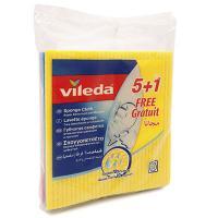 Купить салфетка губчатая целлюлозная дхш 200х180 мм 6шт/уп vileda 1/12 в Москве