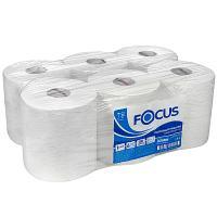 Купить полотенце бумажное 1-сл 280 м в рулоне*6 с центр вытяжением н195хd180 мм focus jumbo белое hayat 1/1 в Москве