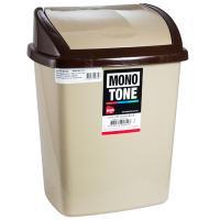 """Купить контейнер мусорный прямоугольный 8л дхшхв 252х200х330 мм с качающейся крышкой пластик коричневый bora"""" 1/24 в Москве"""