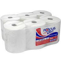 Купить полотенце бумажное 1-сл 200 м в рулоне*6 н200хd160 мм focus extra quick белое hayat 1/1 в Москве