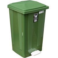 Купить контейнер мусорный прямоугольный 48л дхшхв 420х375х630 мм с педалью пластик зеленый bora 1/1 в Москве