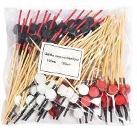 Купить пика декоративная шайба черная/красная/белая н100 мм 100 шт/уп для канапе бамбук 1/40 в Москве