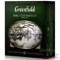 Чай черный пакетированный 100 шт в индивидуальной упак GREENFIELD EARL GREY 1/9