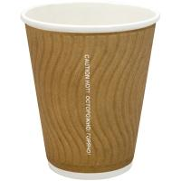 Купить стакан бумажный 200мл d80 мм 2-сл для горячих напитков гофрированный крафт huhtamaki 1/37/925 в Москве