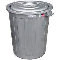 Купить бак мусорный круглый 73л н565хd500 мм пластик темно-серый bora 1/7 в Москве
