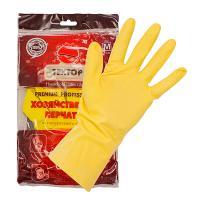 Купить перчатки хозяйственные m особопрочные premium латекс textop 1/12/120 в Москве