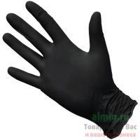 Купить перчатки одноразовые нитриловые l 100 шт/уп черные 1/10 в Москве