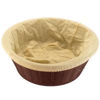 Купить корзинка для хлеба н75хd195 мм с чехлом круглая пластик темно-коричневая bora 1/60 в Москве