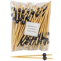 Купить пика декоративная жемчужина черная н120 мм 100 шт/уп для канапе бамбук 1/40 в Москве