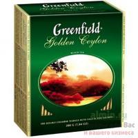 Чай черный пакетированный 100 шт в индивидуальной упак GREENFIELD GOLDEN CEYLON 1/9