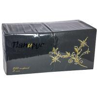Купить салфетка бумажная черная 33х33 см 3-слойные 250 шт/уп папирус 1/6 в Москве