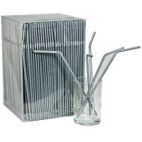 Купить соломка (трубочка) для коктейля н240хd5 мм 1000 шт/уп эконом pp серебристая 1/8 в Москве