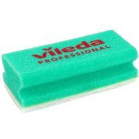 Купить губка профилированная дхш 150х70 мм с белым абразивом поролон зеленая vileda 1/10/100 в Москве
