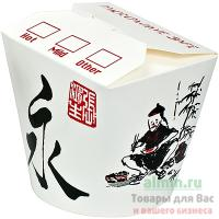 Контейнер бумажный CHINA PACK 750мл Н95хD90 мм с декором КИТАЙСКИЙ ДРАКОН 1/50/500