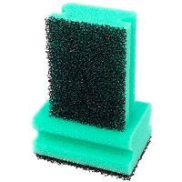 Купить губка для мытья посуды профилированная дхш 95х65 мм 2 шт/уп с черным абразивом soft power поролон зеленая paclan 1/24 в Москве