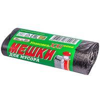 Купить мешок (пакет) мусорный 20л 420х500 мм 30 шт/рул 6 мкм пнд черный 1/100 в Москве