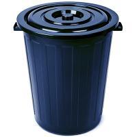 Купить бак мусорный круглый 105л н660хd550 мм пластик синий bora 1/6 в Москве