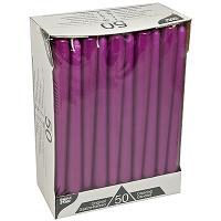 Купить свеча коническая н250 мм 50 шт/уп фиолетовая papstar 1/2 в Москве
