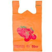 Купить пакет майка 300х550 мм 20 мкм клубника пнд оранжевый 1/100/1000 в Москве