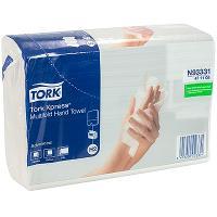 Купить полотенце бумажное листовое 2-сл 190 лист/уп 213х234 мм multifold-сложения tork h2 xpress (арт.471117) белое sca 1/20 в Москве