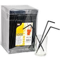 Купить соломка (трубочка) для коктейля н240хd5 мм 1000 шт/уп pp черная papstar 1/6 в Москве