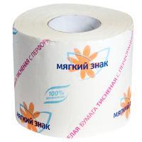 Купить бумага туалетная 1-сл 1 рул/уп 51 м стандарт мягкий знак белая сцбк 1/72 в Москве
