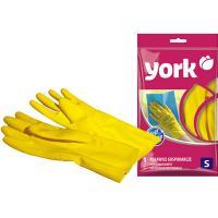 Купить перчатки хозяйственные s особопрочные латекс желтые york 1/12/144 в Москве