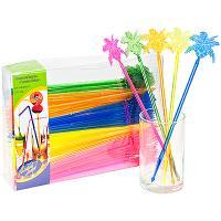 Купить размешиватель декоративный пальма-кокос н235 мм 100 шт/уп пластик разноцветный пласт-лидер 1/10 в Москве