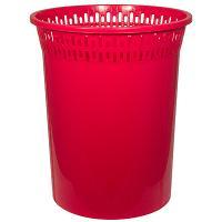 Купить корзина мусорная 8л н29хd245 мм пластик красный bora 1/48 в Москве