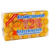 Купить мыло хозяйственное 150г 72% в упаковке светлое аист 1/60 в Москве