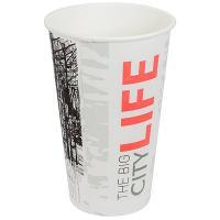 Купить стакан бумажный 400мл d90 мм 1-сл для горячих напитков big city life pps 1/50/1000 в Москве
