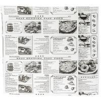 Купить бумага оберточная дхш 300х250 мм жиростойкая с печатью newspaper для гамбургера 1/1000/4000 в Москве