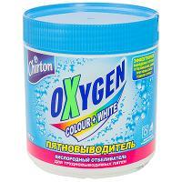 Купить пятновыводитель порошковый 500г для белого и цветного белья chirton oxygen gd 1/8 в Москве