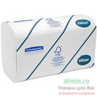 Купить полотенце бумажное листовое 2-сл 124 лист/уп 215х315 мм z-сложения kleenex белое kimberly-clark 1/30 в Москве