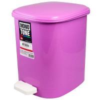 Купить контейнер мусорный прямоугольный 10л дхшхв 250х320х290 мм уценка! (скол задней стенки) с педалью пластик розовый bora 1/6 в Москве