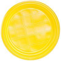 Купить тарелка d205 мм ps желтая ипк 1/100/2000 в Москве