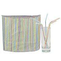 Купить соломка (трубочка) для коктейля н210хd5 мм 250 шт/уп pp белая с цветной полосой 1/48 в Москве